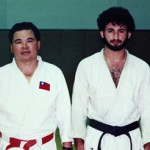 An undated photograph shows Taiwanese coach Jimmy Wu seen with who he says is himself with Osama Bin Laden dressed in their judo gi in Riyadh