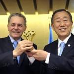 Jacques Rogge, Ban Ki-moon