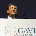 Philanthropist Bill Gates speaks at the Global Alliance for Vaccines and Immunisation conference in London