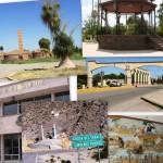 Collage de lugares distintivos de la ciudad de Matamoros, Coahuila