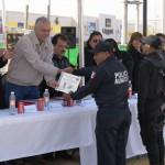 Festejo del día del policía en Matamoros, Coahuila. Entregan reconocimientos a elementos destacados.