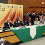 Durante el Consejo de Rectores del Consorcio de Universidades Mexicanas, el rector de la Universidad Autónoma de Coahuila y presidente del organismo, Mario Alberto Ochoa Rivera, presentó su informe de actividades y logros del periodo 2011-2012.