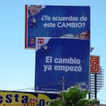 Deberán ser retirados los espectaculares del PAN. (Foto Enrique Proa Villarreal).