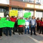 Trabajadores sindicalizados del ayuntamiento de Matamoros, Coahuila suspendieron actividades en protesta por el despido de algunos de sus compañeros. (Foto Enrique Proa Villarreal).