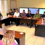 Autoridades policíacas y electorales se coordinan para garantizar la seguridad en las elecciones del próximo domingo. (Foto Enrique Proa Villarreal).