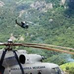 Para la búsqueda, la SEDENA proporcionó dos helicópteros que peinaron el área en búsqueda de sobrevivientes, heridos o en el peor de los casos de los cuerpos y restos de la avioneta, sin que hasta el momento haya resultado alguno.