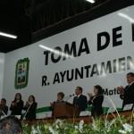 La mañana de este sábado, Raúl Onofre tomo protesta como nuevo alcalde de Matamoros, Coahuila para de esta manera encabezar la administración municipal 2014-2017. La ceremonia tuvo lugar en el Teatro del Pueblo en donde se congregaron ciudadanos, empresarios y políticos.