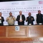 Se firma convenio para la titulación de la vivienda y se entregan constancias de subsidios a colonos de la Enrique Martínez.