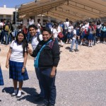 Alumnos partipando en la inauguración del plantel PVC extensión Matamoros. (Foto: www.elmatamorense.com)
