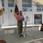 El Alcalde Raúl Onofre dirige unas palabras en la ceremonia de inauguración.