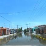 """Una de las principales colonias afectadas fue """"El Galeme"""", debido a la gran cantidad de agua que se acumuló en las calles"""