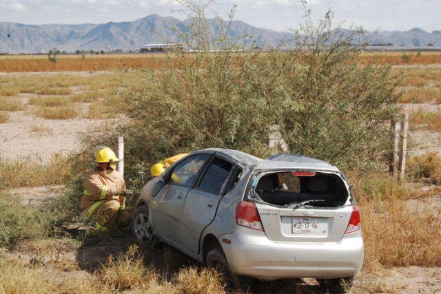 En estas condiciones quedo el vehículo tras el accidente.