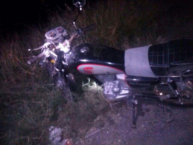 Esta es la motocicleta de la cual presuntamente cayó el hoy occiso.