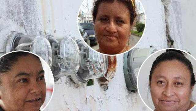 Tres amas de casa denunciaron los excesivos cobros que les pretende hacer la CFE.