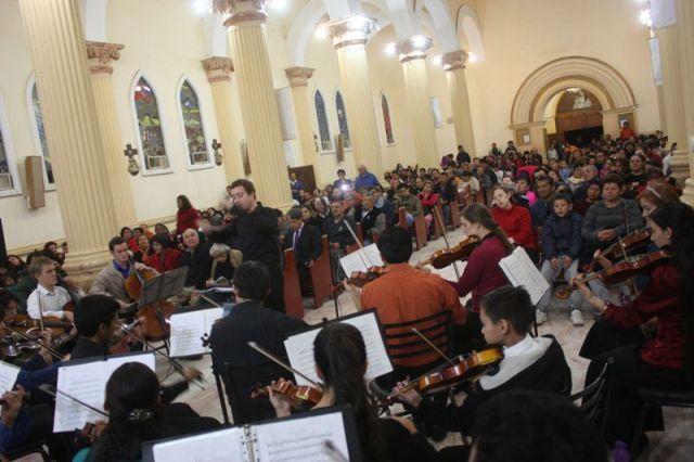 La magistral interpretación de los músicos cautivó al público matamorense