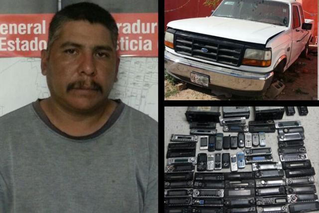 Francisco Rodríguez Treviño fue consignado al Ministerio Público a efecto de deslindar responsabilidades en el robo. En otro operativo decomisaron diversos artículos.