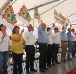 Se dio el banderazo de inicio de la obra de ampliación de la carretera a Cuatro Carriles del ejido Congregación Hidalgo.