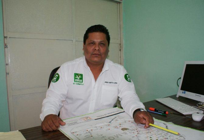 Sergio Alberto Luna Lavenant regidor del partido verde.